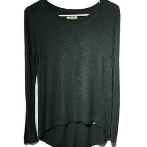 Madewelll Anthem dark green long sleeve top